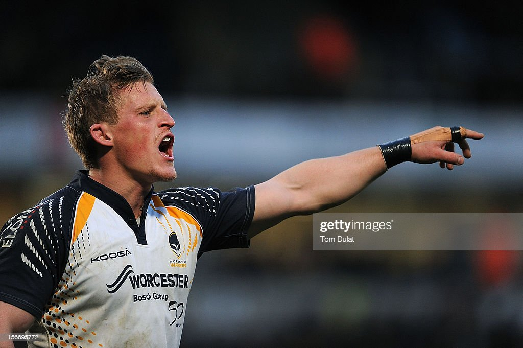 Jake Abbott of Worcester Warriors in action during the LV= Cup match between London Wasps and Worcester Warriors at Adams Park on November 18, 2012 in High Wycombe, England.