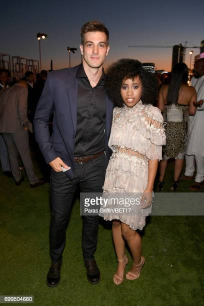 Jake Allyn and Zoe Renee at the Debra Lee PreBET Awards Dinner on June 21 2017 in Los Angeles California