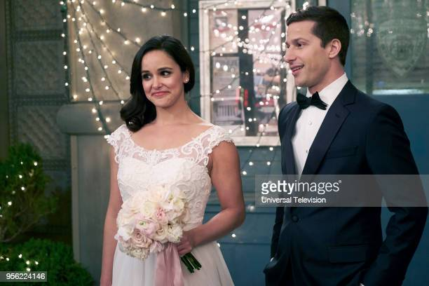 NINE 'Jake Amy' Episode 522 Pictured Melissa Fumero as Amy Santiago Andy Samberg as Jake Peralta