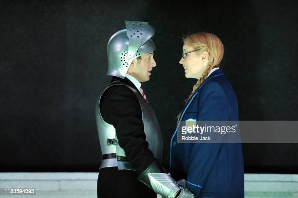 Jake Arditti as Rinaldo and Anna Devin as Almirena in Glyndebourne Opera's production of Handel's Rinaldo directed by Robert Carsen and conducted by...