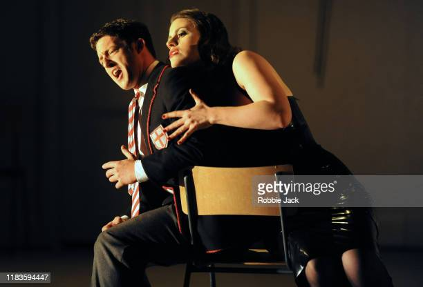 Jake Arditti as Rinaldo and Jacquelyn Stucker as Armida in Glyndebourne Opera's production of Handel's Rinaldo directed by Robert Carsen and...