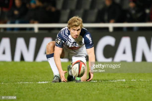 Jake Aron Mcintyre of Agen during the Top 14 match between Lyon and Agen at Gerland Stadium on January 27 2018 in Lyon France