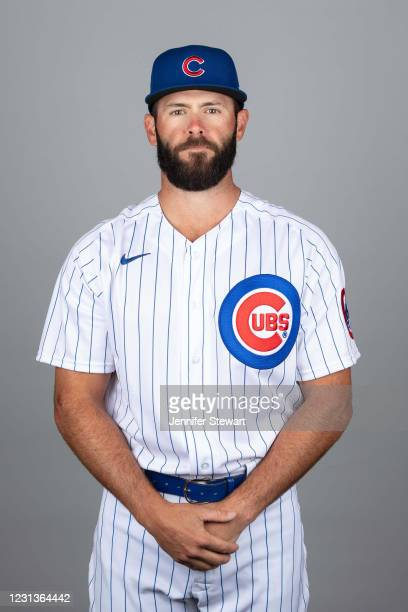 Jake Arrieta of Chicago Cubs poses during Photo Day on Tuesday, February 23, 2021 at Sloan Park in Mesa, Arizona.