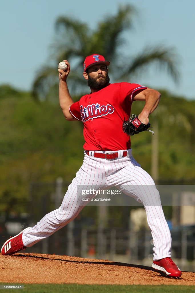 MLB: MAR 17 Spring Training - Jake Arrieta Phillies Workout : News Photo