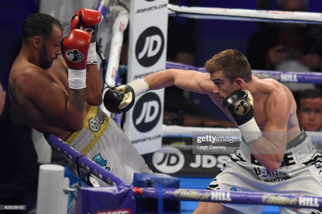 Jake Ball (R) in boxing action against Jamie Ambler at The O2 Arena on July 1, 2017 in London, England.