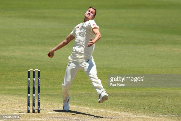 Jake Ball of England bowls during day two of the Ashes series Tour Match between Western Australia XI and England at WACA on November 5 2017 in Perth...