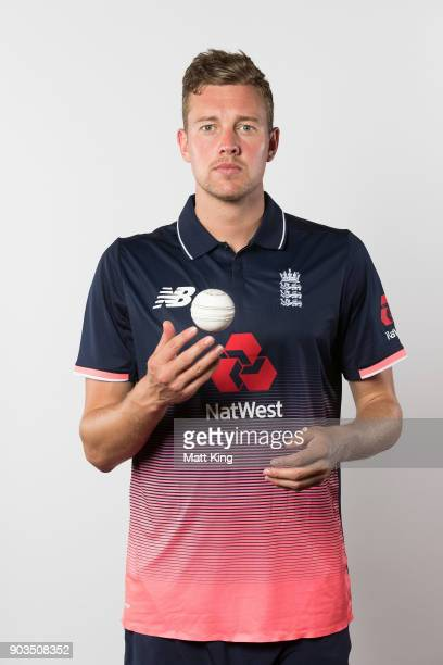 Jake Ball of England poses during the England One Day International series headshots session at Sydney Cricket Ground on January 10 2018 in Sydney...