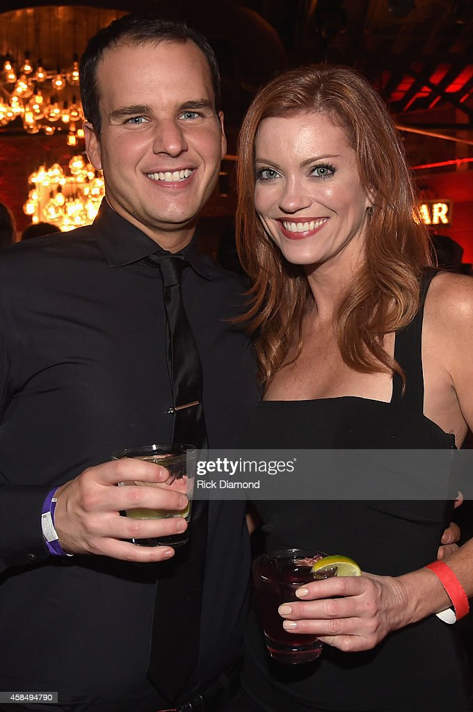 Jake Basden and Alecia Davis attend the Big Machine Label Group Celebrates The 48th Annual CMA Awards in Nashville on November 5, 2014 in Nashville, Tennessee.