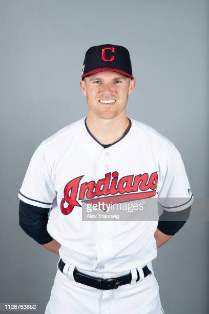 Jake Bauers of the Cleveland Indians poses during Photo Day on Thursday February 21 2019 at Goodyear Ballpark in Goodyear Arizona