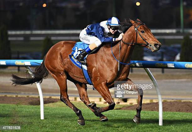 Jake Bayliss riding Sea Lord wins Race 9 during Melbourne Racing at Moonee Valley Racecourse on June 20 2015 in Melbourne Australia