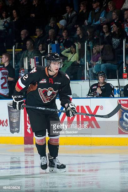 Jake Bean of Calgary Hitmen skates against the Kelowna Rockets on February 28 2015 at Prospera Place in Kelowna British Columbia Canada