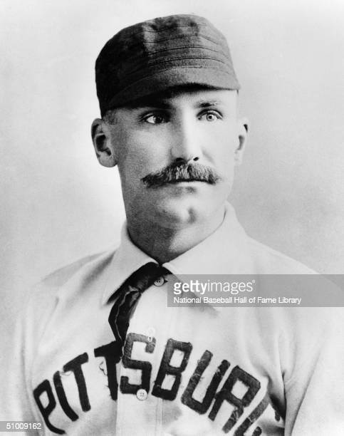 Jake Beckley of the Pittsburgh Pirates poses for a formal portrait Jacob 'Old Eagle Eye' Beckley played in Pittsburgh for the Alleghenys in 1888 and...