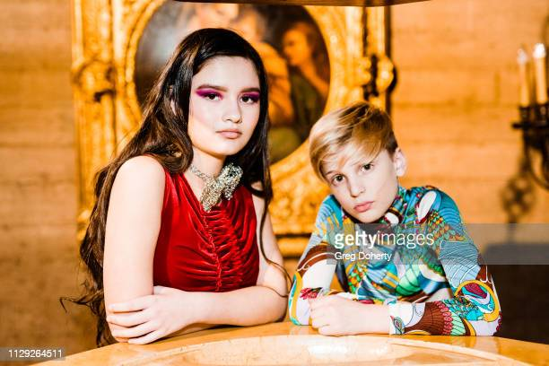 Jake Benbow and Amelia Crawford attend the Sanctuary Fashion Week on March 7 2019 in Los Angeles California