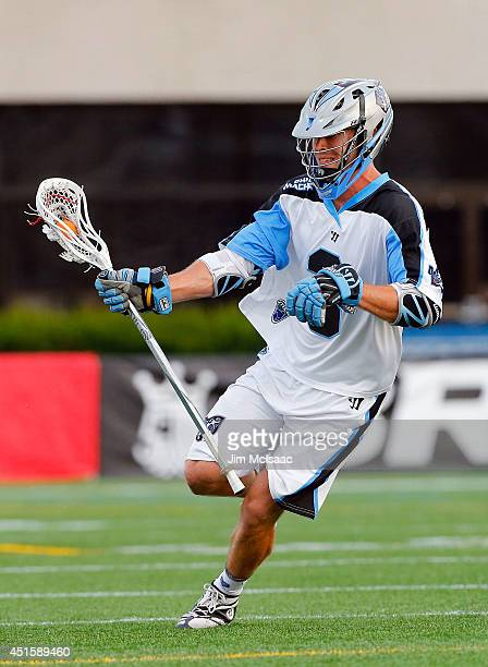 Jake Bernhardt of the Ohio Machine in action against the New York Lizards during their Major League Lacrosse game at Shuart Stadium on June 28 2014...