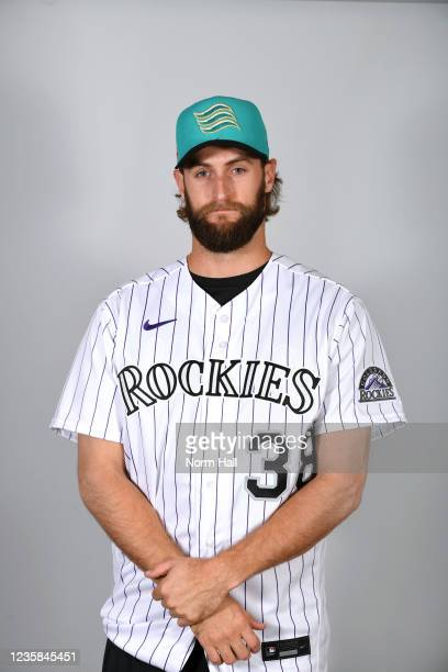 Jake Bird of the Salt Rive Rafters poses for a headshot during the 2021 Arizona Fall League Headshots at Salt River Fields at Talking Stick on...