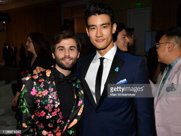 Jake Borelli and Alex Landi attend the 30th Annual GLAAD Media Awards Los Angeles at The Beverly Hilton Hotel on March 28 2019 in Beverly Hills...