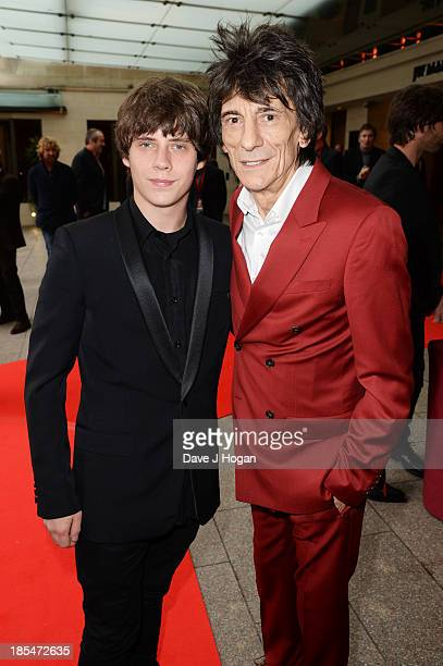 Jake Bugg and Ronnie Wood attend The Q Awards 2013 at Grosvenor House on October 21 2013 in London England