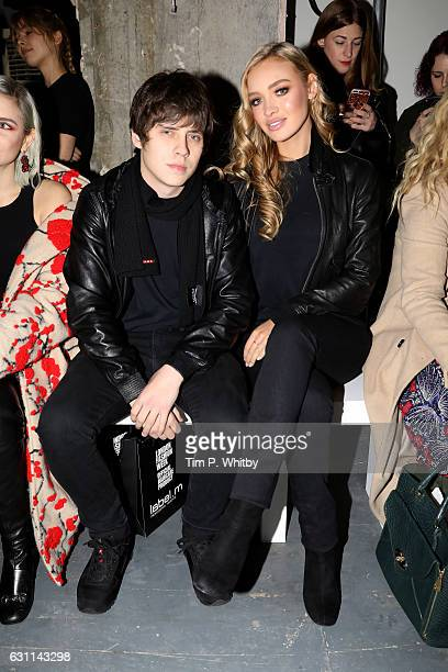 Jake Bugg and Roxy Horner attend the What We Wear show during London Fashion Week Men's January 2017 collections at on January 7 2017 in London...