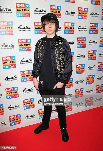 Jake Bugg arrives at the NME Awards at Brixton Academy on February 18 2015 in London England