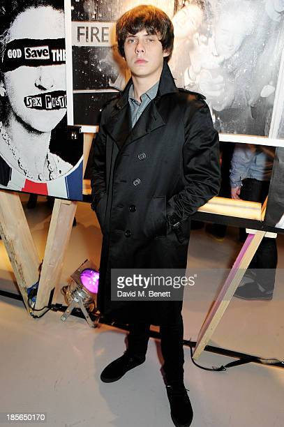 Jake Bugg attends a private view of the 'Virgin Records 40 Years Of Disruptions' exhibition at Victoria House on October 23 2013 in London England
