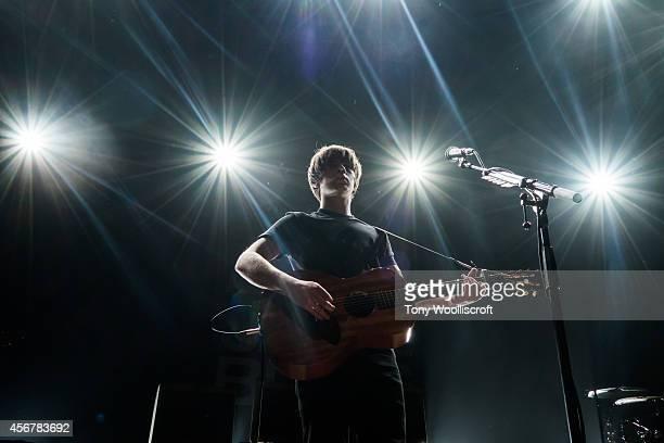 Jake Bugg performs at Wolverhampton Civic Hall on October 6 2014 in Wolverhampton England