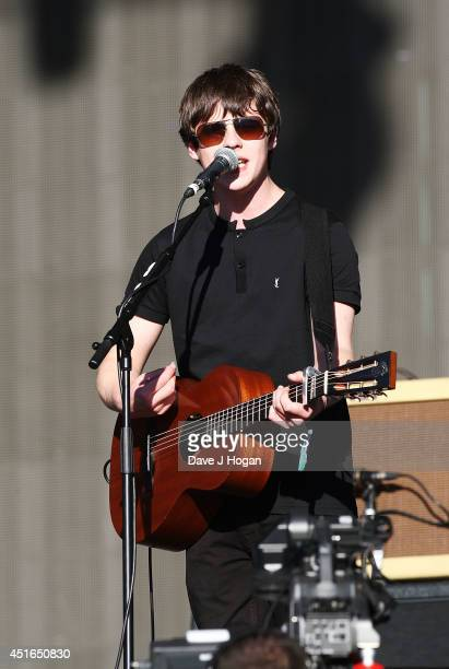 Jake Bugg performs on stage at British Summer Time Festival at Hyde Park on July 3 2014 in London United Kingdom