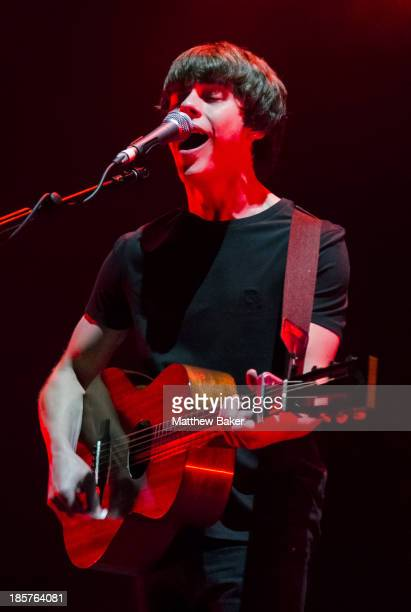Jake Bugg performs on stage at Brixton Academy on October 24 2013 in London United Kingdom