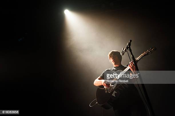 Jake Bugg performs on stage at O2 Academy Glasgow on October 21 2016 in Glasgow Scotland