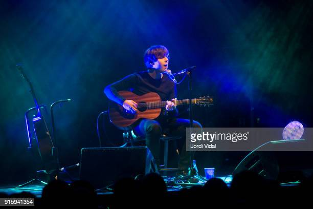 Jake Bugg performs on stage at Sala Apolo on February 8 2018 in Barcelona Spain