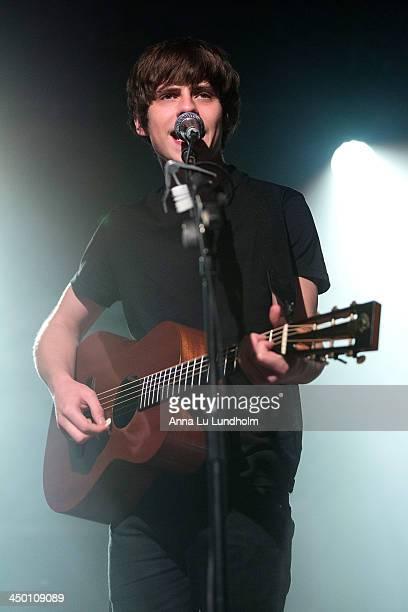 Jake Bugg performs on stage on November 16 2013 in Stockholm Sweden