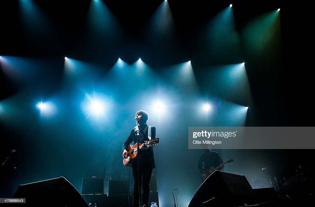 Jake Bugg performs on the opening night of his UK tour to a home city crowd on stage at Nottingham Capital FM Arena on February 20, 2014 in Nottingham, United Kingdom.