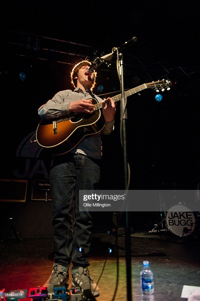 Jake Bugg performs onstage during his March 2013 UK tour at o2 Academy on March 28, 2013 in Leicester, England.