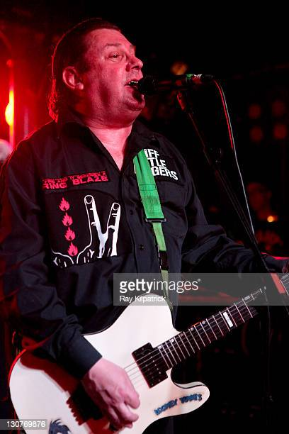 Jake Burns of Stiff Little Fingers performs on stage at O2 Academy on October 29 2011 in Liverpool United Kingdom