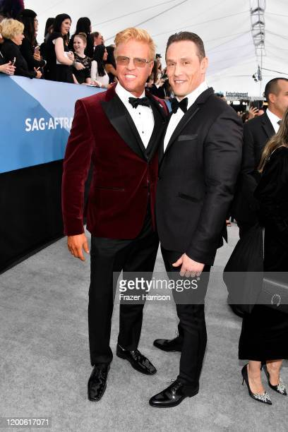 Jake Busey and Andrey Ivchenko attend the 26th Annual Screen Actors Guild Awards at The Shrine Auditorium on January 19 2020 in Los Angeles California