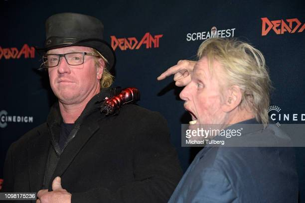 Jake Busey and Gary Busey attend the Los Angeles premiere screening of Dead Ant at TCL Chinese 6 Theatres on January 22 2019 in Hollywood California