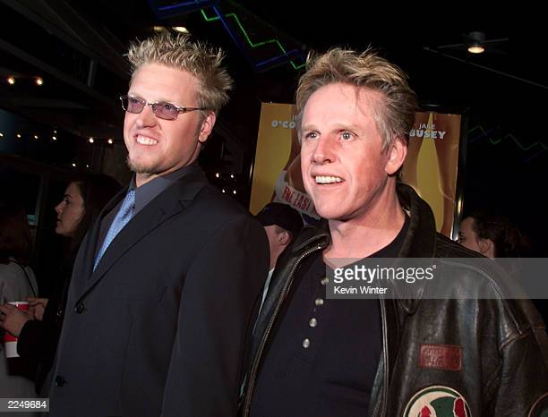 Jake Busey and his father Gary Busey at the premiere of 'Tomcats' at Universal CityWalk 18 Theaters Los Angeles Ca 3/28/01 Photo by Kevin...