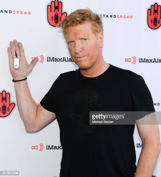 Jake Busey attends iMaxAlarm pledges to #StopStandSpeak against Street Harassment at the GBK Pilot Pen Pre Awards Celebrity Lounge 2017 Day 1 on...