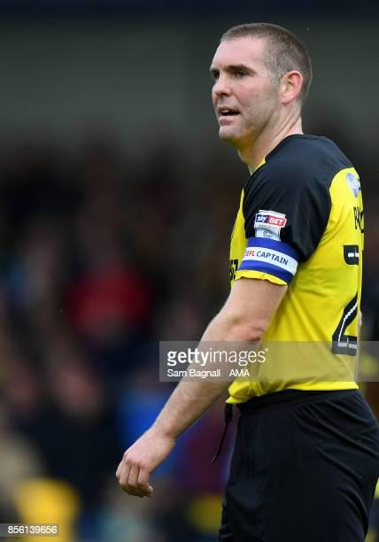 Jake Buxton of Burton Albion during the Sky Bet Championship match between Burton Albion and Wolverhampton at Pirelli Stadium on September 30 2017 in...