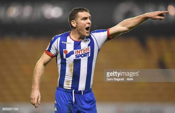 Jake Buxton of Wigan Athletic during the Sky Bet Championship match between Wolverhampton Wanderers and Wigan Athletic at Molineux on February 14...