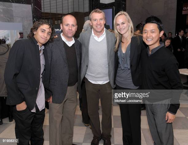 Jake Cannavale guest actor Tate Donovan codirector Amy Rice and film subject Ronnie Cho attend the HBO Documentary Screening Of By The People The...