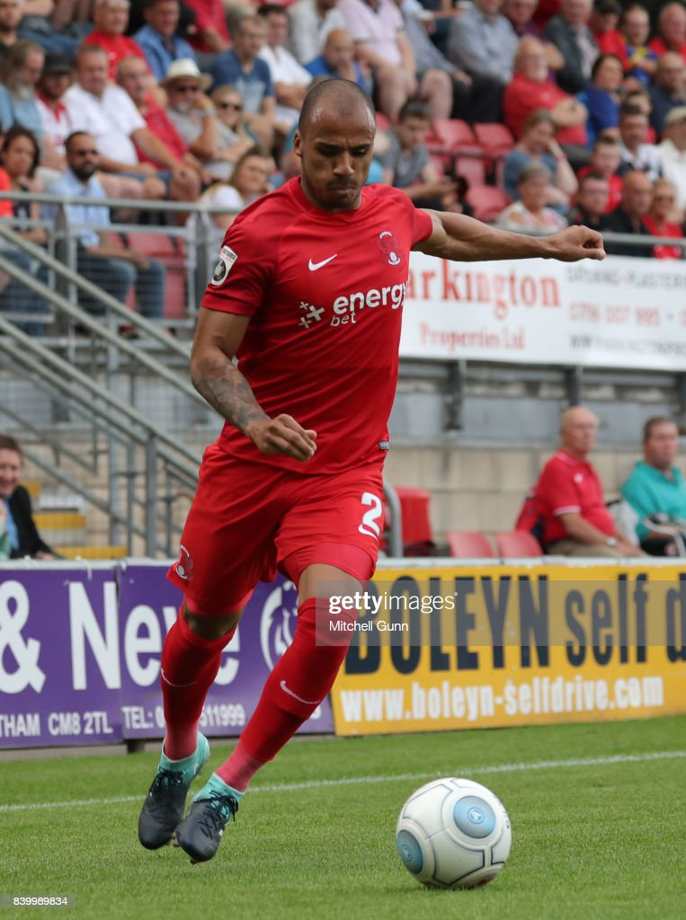 Jake Caprice of Leyton Orient during the National League match between Leyton Orient and Eastleigh at The Matchroom Stadium on August 26, 2017 in London, United Kingdom.
