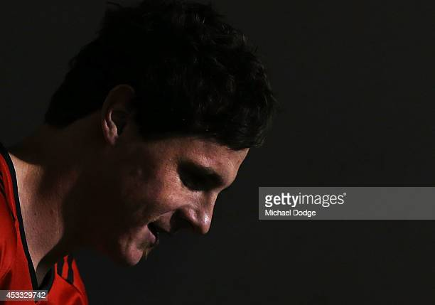 Jake Carlisle of the Bombers walks out during the round 20 AFL match between the Richmond Tigers and the Essendon Bombers at Melbourne Cricket Ground...