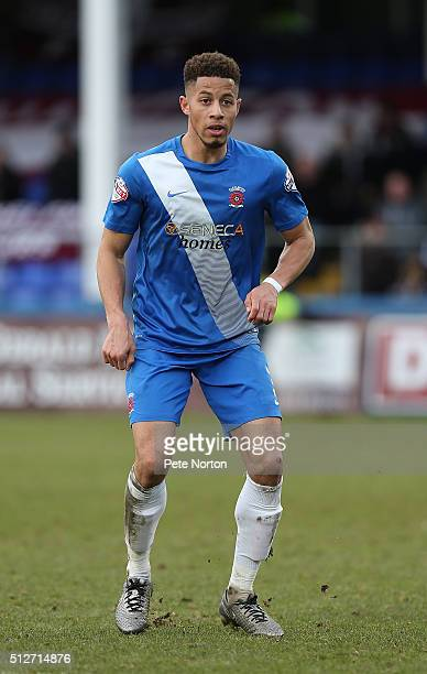 Jake Carroll of Hartlepool United in action during the Sky Bet League Two match between Hartlepool United and Northampton Town at Victoria Park on...