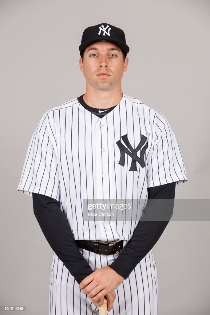 Jake Cave #70 of the New York Yankees poses during Photo Day on Wednesday, February 21, 2018 at George M. Steinbrenner Field in Tampa, Florida.