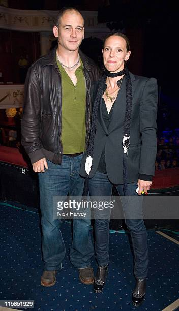 Jake Chapman and his wife Tiphaine Chapman during Backstage at Mika's Concert at the Shepherds Bush Empire at Shepherds Bush Empire in London Great...