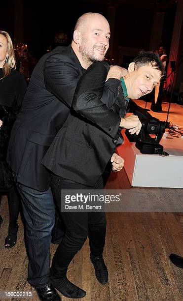Jake Chapman and Jamie Hince attend the Place For Peace dinner cohosted by Ella Krasner and Forest Whitaker to support the Peace Earth Foundation in...