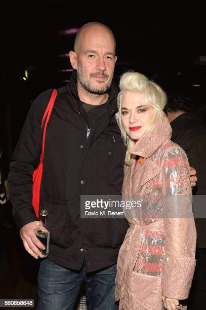 Jake Chapman and Pam Hogg attend Beauty Papers An Evening Of Etiquette With The Chapman Brothers at The London EDITION on October 12 2017 in London...