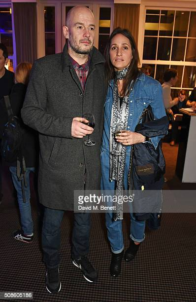 Jake Chapman and Rosemary Ferguson attend a cast and crew screening of 'This Beautiful Fantastic' at BAFTA on February 5 2016 in London England