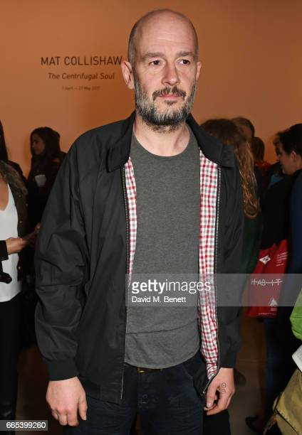 Jake Chapman attends the Private View of 'Centrifugal Soul' by Mat Collishaw at Blain Southern on April 6 2017 in London England