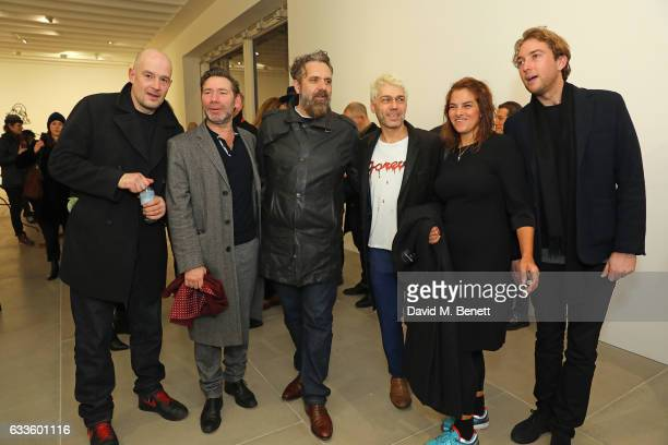 Jake Chapman Mat Collishaw Keith Tyson Tim Noble Tracey Emin and guest attend the Private View of 'Sticks with Dicks and Slits' by Tim Noble and Sue...